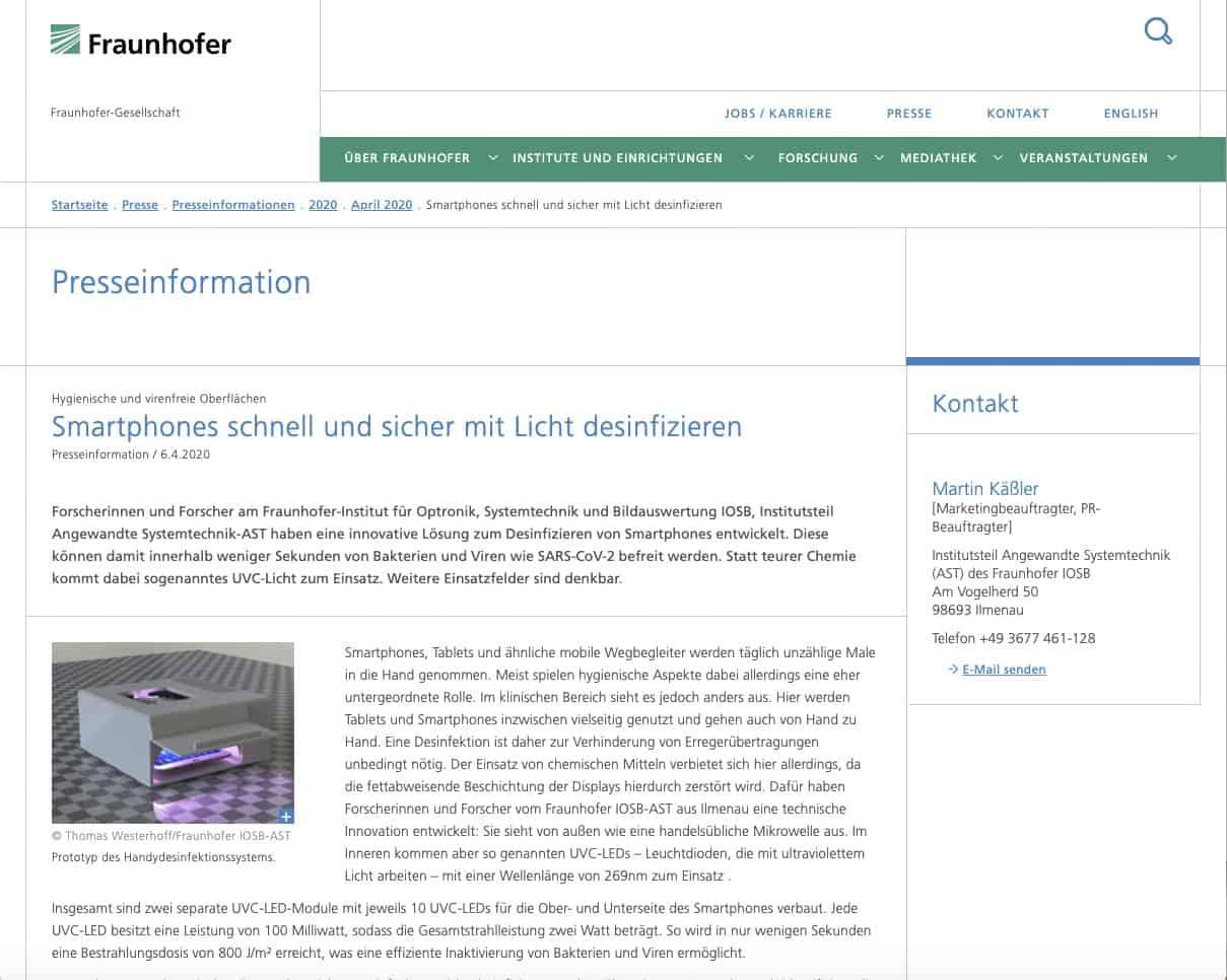 Fraunhofer Presseinfo