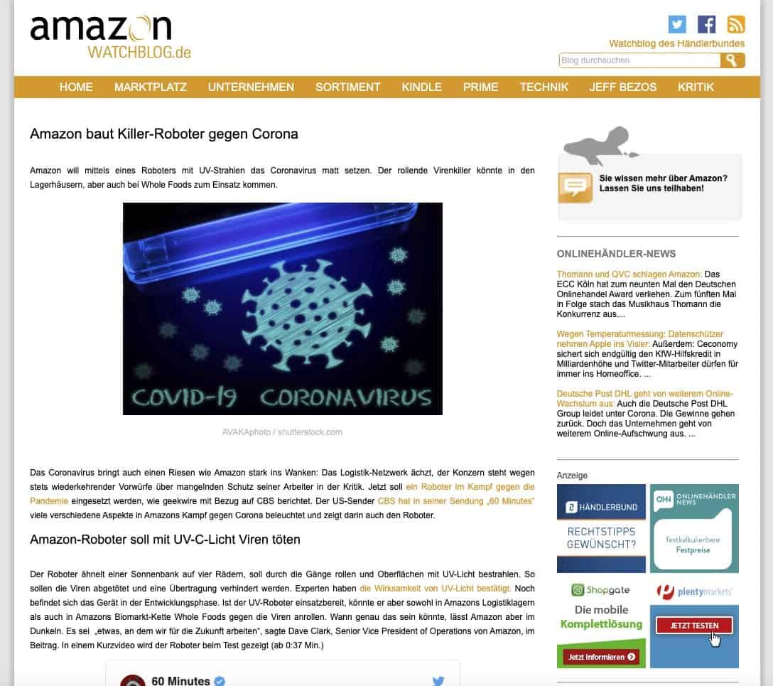Amazon baut Roboter