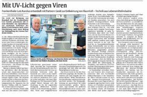 iCovir Bericht Rheinpfalz